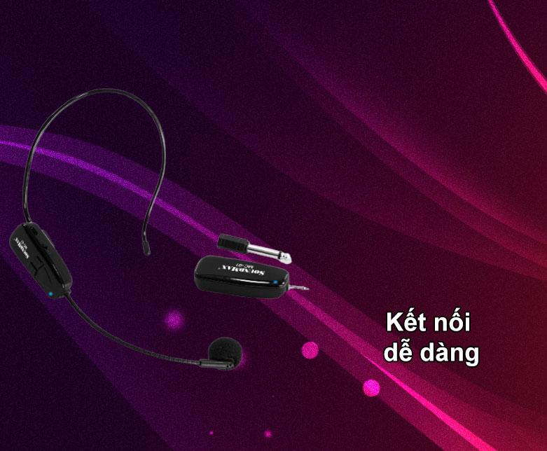 Micro không dây Soundmax MC-01   Kết nối dễ dàng