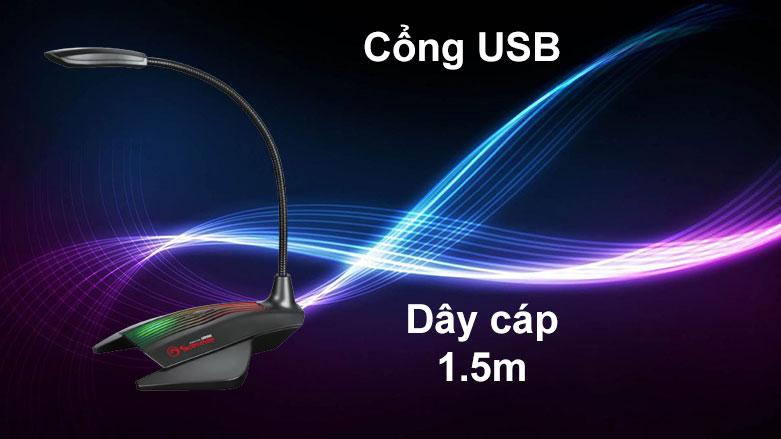 Micro Marvo MIC-01 LED | Cổng USB, Dây cáp 1.5m