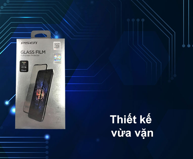 Miếng dán cường lực Pisen Glass Screen iPhone 6/7/8 | Thiết kế vừa vặn