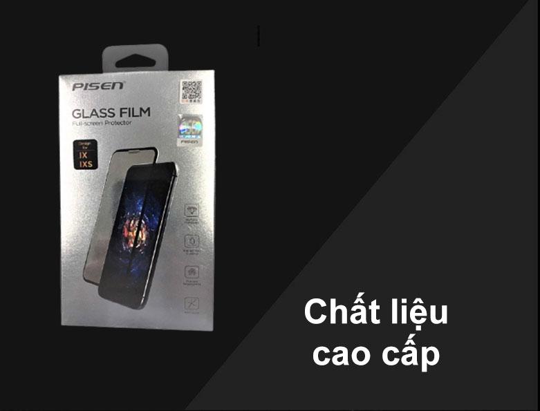 Miếng dán cường lực Pisen Glass Screen iPhone X | Chất liệu cao cấp