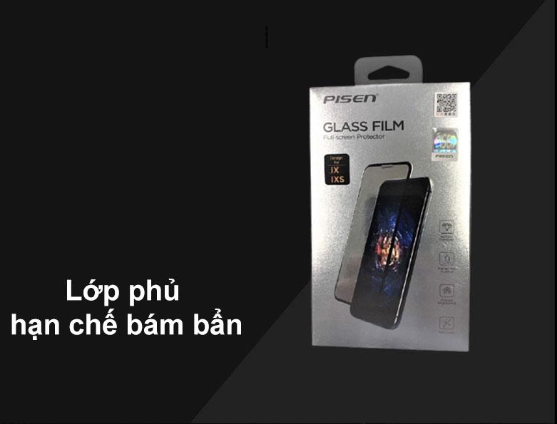 Miếng dán cường lực Pisen Glass Screen iPhone X | Lớp phủ hạn chế bám bẩn