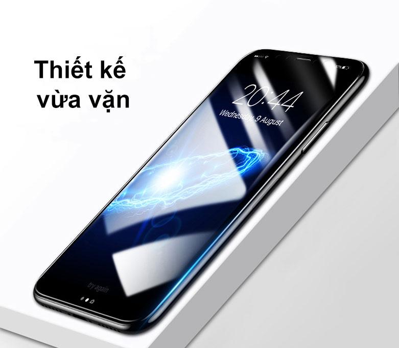 Miếng dán cường lực Pisen Glass Screen iPhone X | Thiết kế vừa vặn