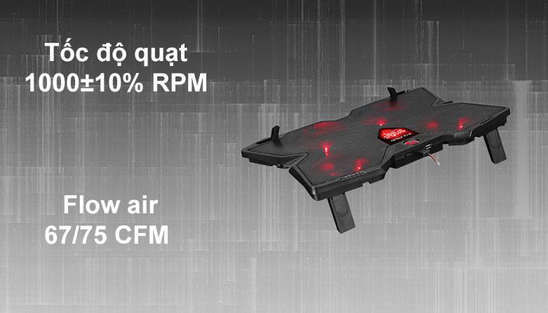 Fan laptop MARVO FN-38RD LED   Tốc độ quạt ổn định