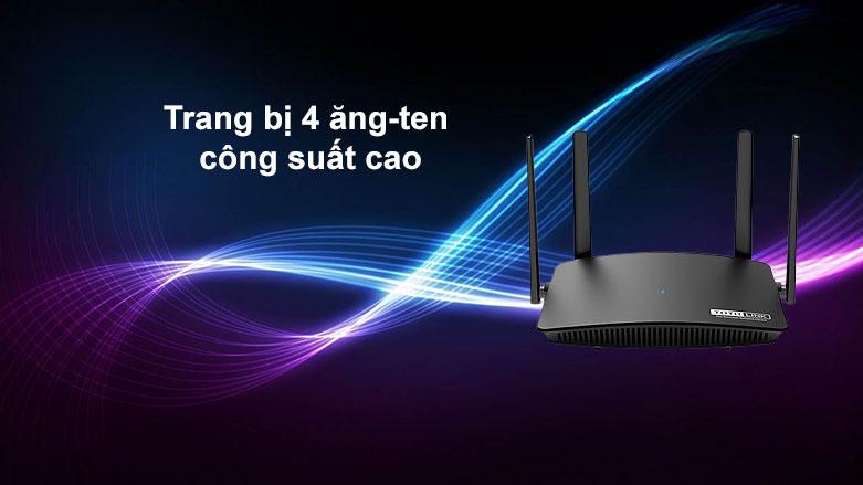 Thiết bị mạng Totolink Router A720R| Trang bị 4 ăng- ten công suất cao