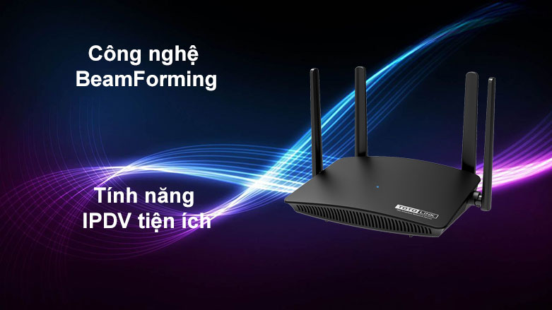 Thiết bị mạng Totolink Router A720R | Công nghệ BeamForming, Tính năng IPDV tiện ích