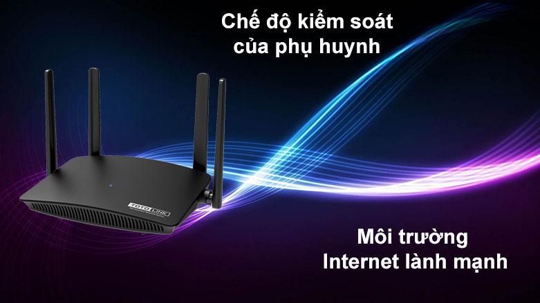 Thiết bị mạng Totolink Router A720R | Chế độ kiểm soát của phụ huynh, Môi trường Internet lành mạnh