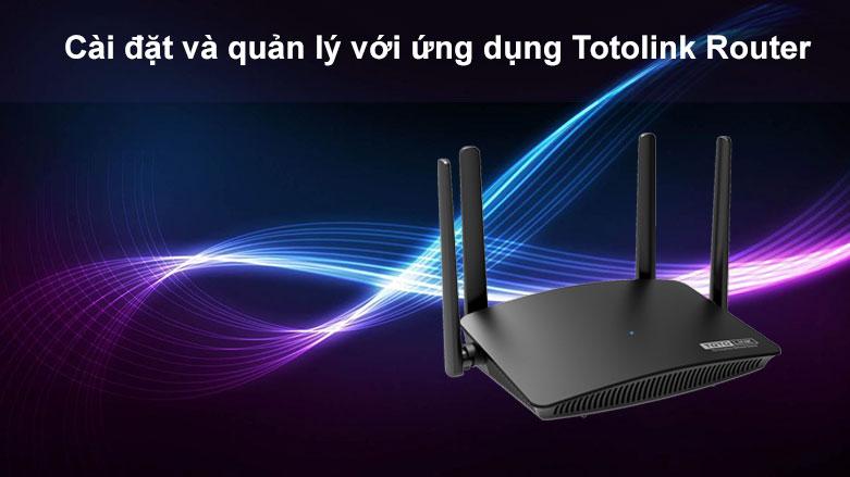 Thiết bị mạng Totolink Router A720R| Cài đặt và quản lý với ứng dụng Totolink Router