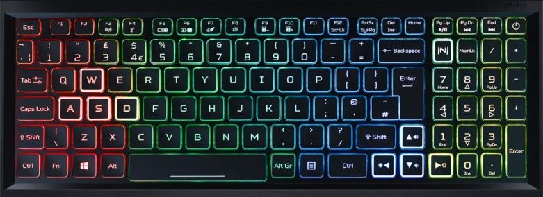 Máy tính xách tay ACER Nitro 5 AN515-55-72P6 | Trang bị phím LED