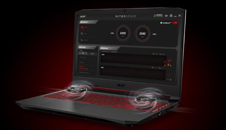 Máy tính xách tay ACER Nitro 5 AN515-55-72P6 | Công nghệ tản nhiệt