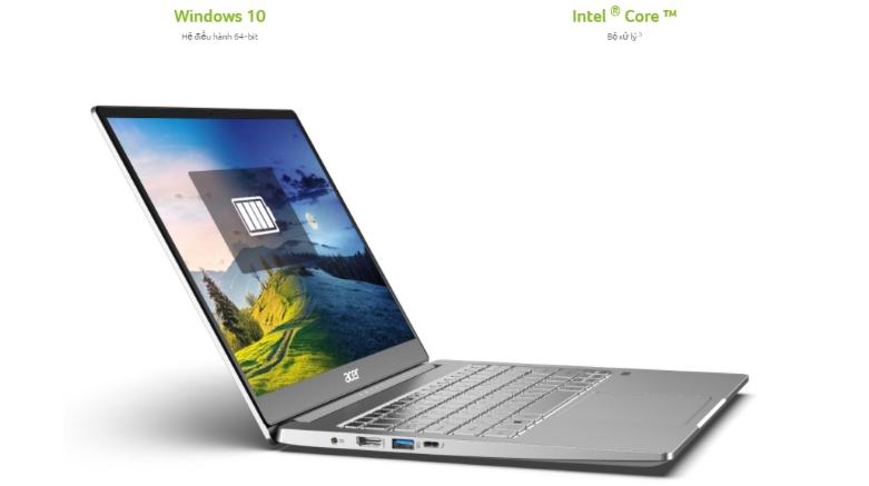 Máy tính xách tay Acer Swift 3 SF314-59-599U NX.A0MSV.001 | Hệ điều hành Window 10