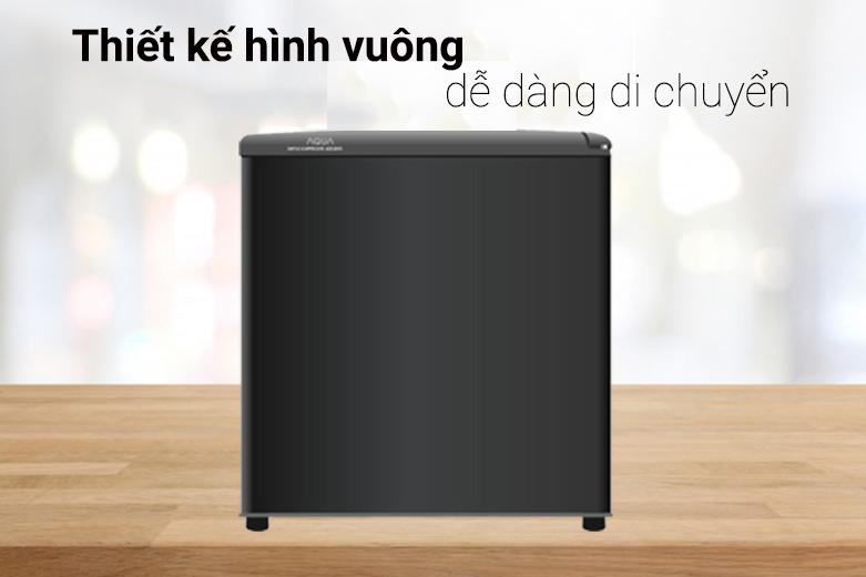 Tủ lạnh Aqua AQR-D59FA(BS)   Thiết kế hình vuông dễ dáng di chuyển
