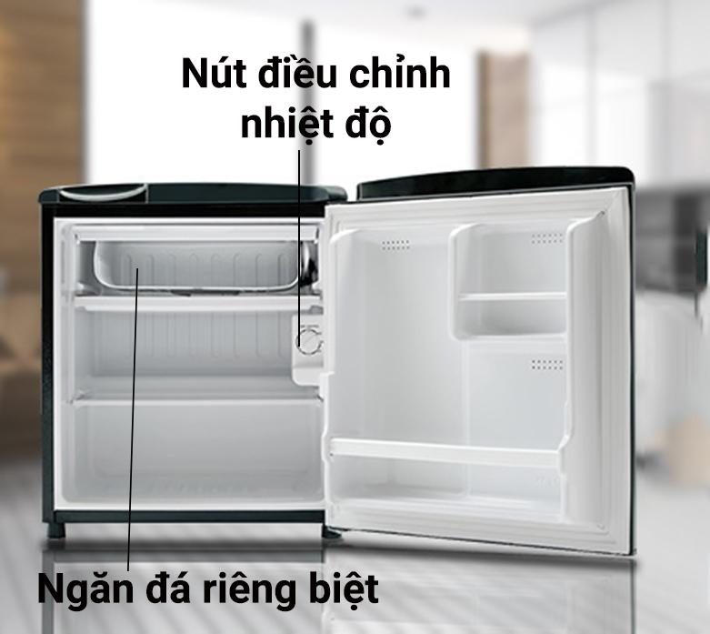 Tủ lạnh Aqua AQR-D59FA(BS)   Ngăn đá riêng biệt