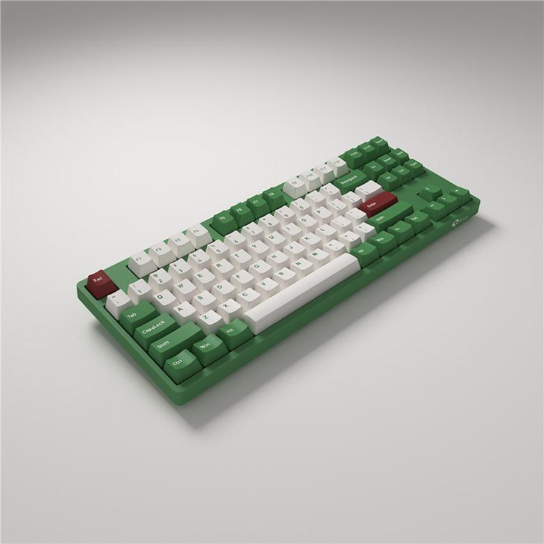 Bàn phím cơ Akko 3087 v2 DS Matcha Red Bean   Bàn phím nhỏ gọn