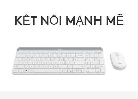 Bộ bàn phím, chuột không dây Logitech MK470 Slim | Kết nối mạnh mẽ