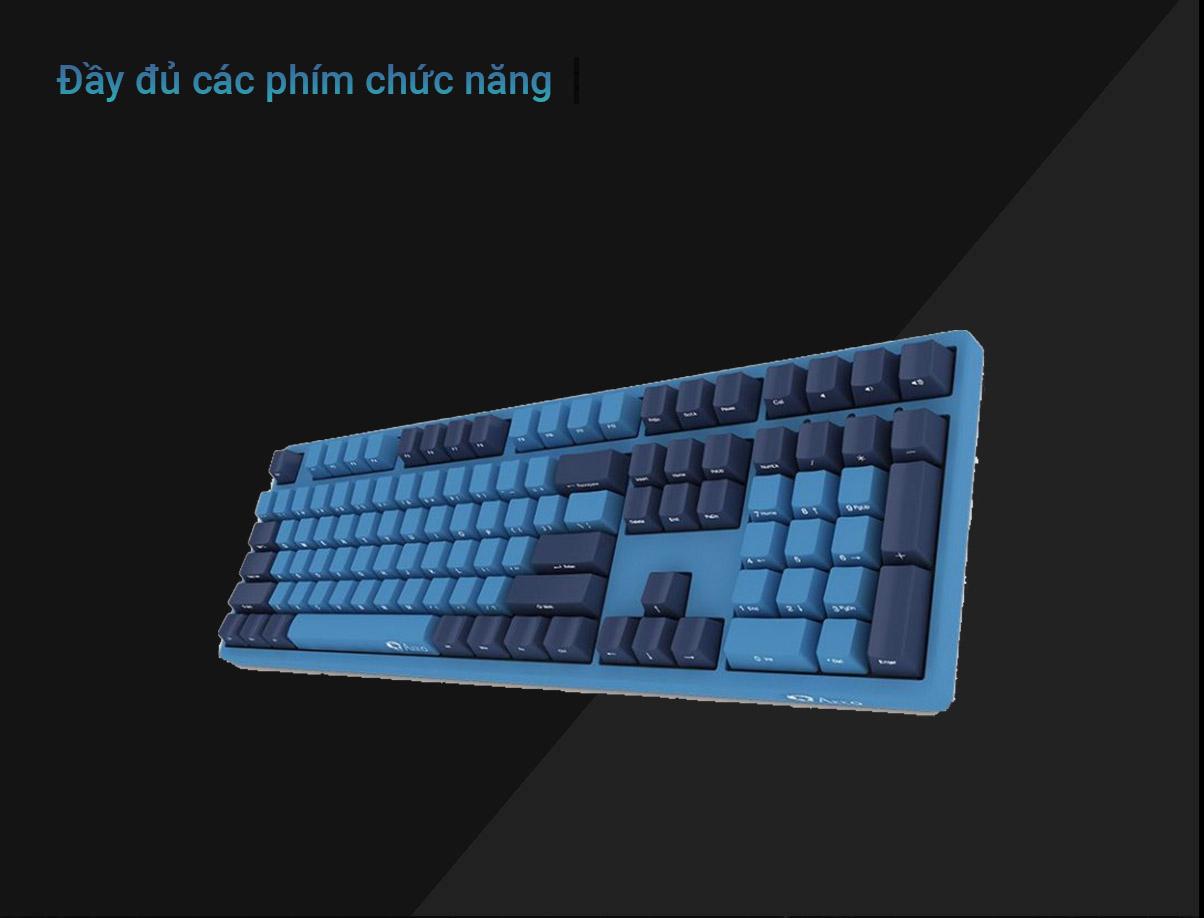 Bàn phím cơ AKKO 3108 SP (Side-printed) Ocean Star Cherry Switch (Red) | Đầy đủ các phím chức năng