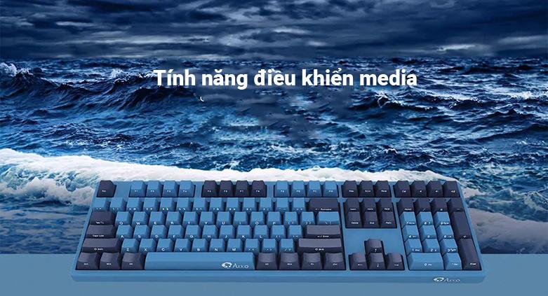 Bàn phím cơ AKKO 3108 SP (Side-printed) Ocean Star Cherry Switch (Blue) | Tính năng điều khiển media