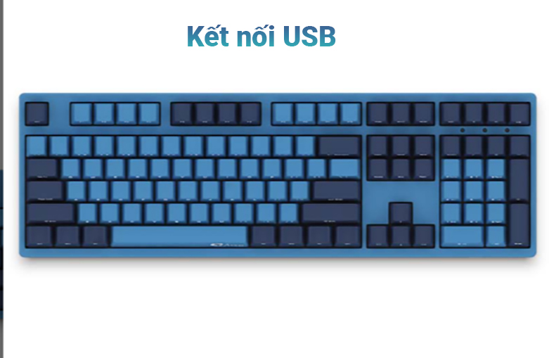Bàn phím cơ AKKO 3108 SP (Side-printed) Ocean Star Cherry Switch (Blue) | Kết nối USB