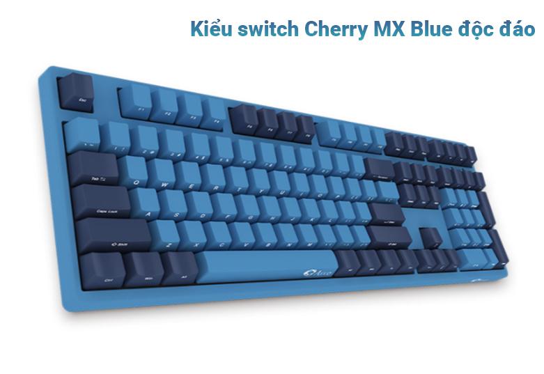 Bàn phím cơ AKKO 3108 SP (Side-printed) Ocean Star Cherry Switch (Blue) | Kiểu switch Cherry MX Blue độc đáo