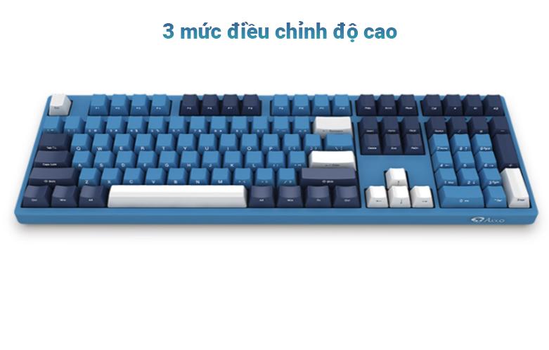 Bàn phím cơ AKKO 3108 SP (Side-printed) Ocean Star Cherry Switch (Blue) | 3 mức điều chỉnh độ cao