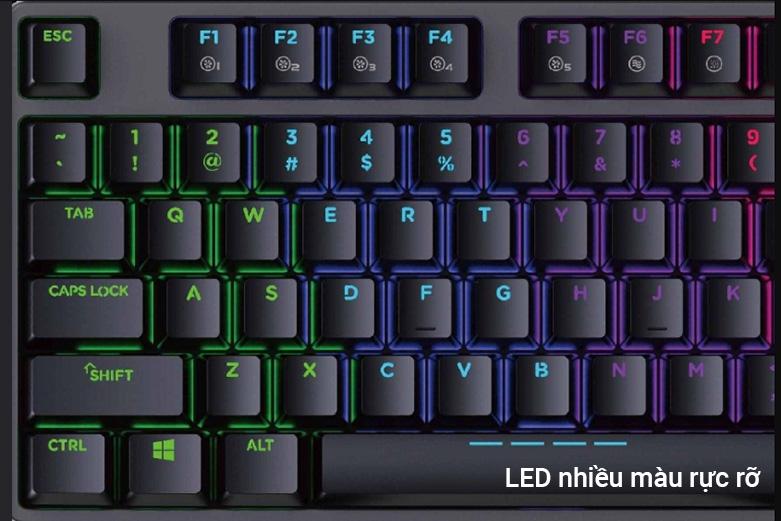Bàn phím cơ DareU EK87 Mutiled Brown Switch   Trang bị đèn LED 7 màu