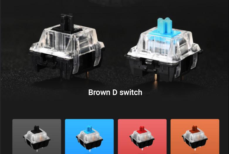 Bàn phím cơ DareU EK87 Mutiled Brown Switch   Thiết kế tinh tế