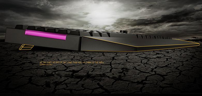 Bàn phím gaming Asus TUF K1 (Đen) | Thiết kế công thái học