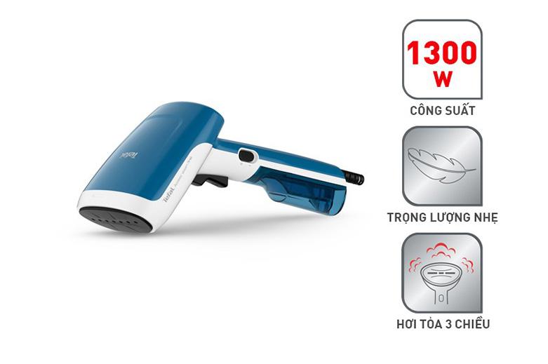 Bàn ủi hơi nước cầm tay dạng du lịch Tefal DT6130E0   Công suất 1300 W