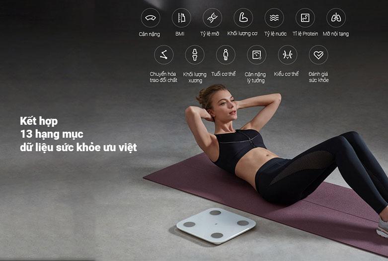 Cân điện tử Xiaomi Mi Body Composition Scale 2 NUN4048GL   13 hnagj mục dữ liệu sức khỏe