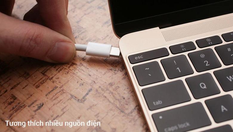 Cáp Sạc APPLE USB-C CHARGE (2M) (MLL82ZP/A) | Tương thích nhiều nguồn điện