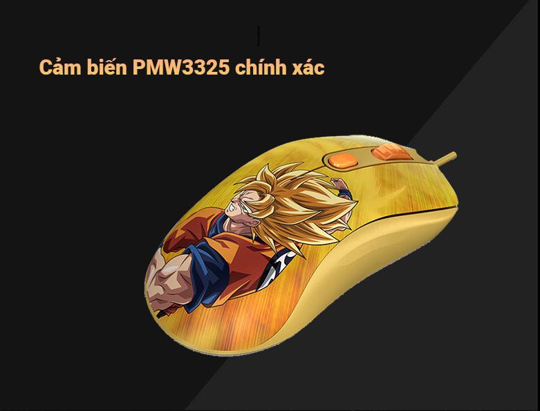 Chuột gaming Akko AG325 Dragon Ball Super - Goku SSG | Cảm biến chính xác