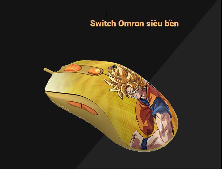 Chuột gaming Akko AG325 Dragon Ball Super - Goku SSG | Switch Omron siêu bền