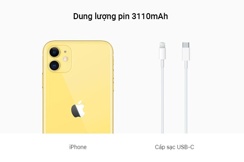 Điện Thoại Di Động iPhone 11 64GB | Dung lượng pin 3110 mAh