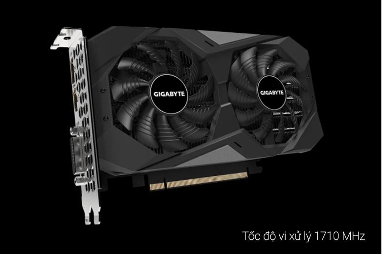VGA Gigabyte GeForce GTX 1650 D6 WINDFORCE OC 4G (GV-N1656WF2OC-4GD) | Tốc độ xử lý 710 MHz