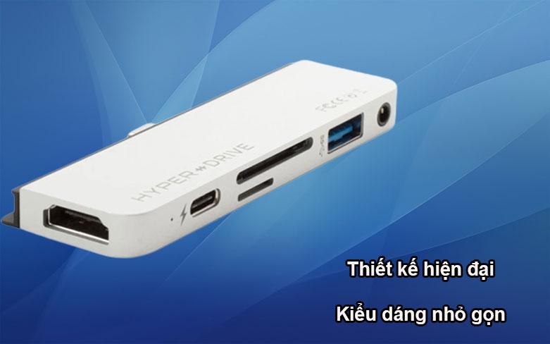 Hub Hyperdrive 6 in 1 HDMI 4K/60Hz USB-C Hub (HD319B-SL) (Bạc)   Thiết kế hiện đại