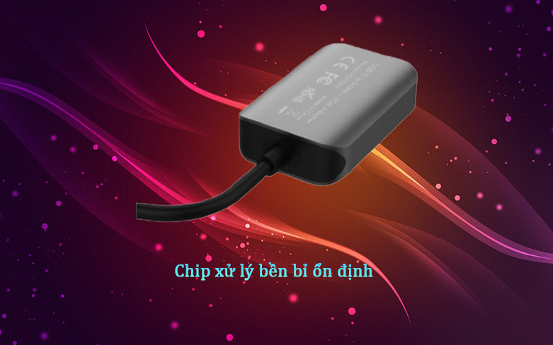 Hub Hyperdrive HDMI/VGA 4K 2 IN 1 HD-C2HV (Xám) | Chip xử lý bền bỉ ổn định