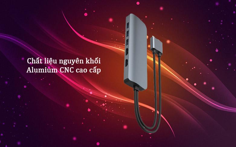 Hub Hyperdrive Viber 10-IN-2 4K60Hz HD392-GR (Xám) | Chất liệu nguyên khối cao cấp