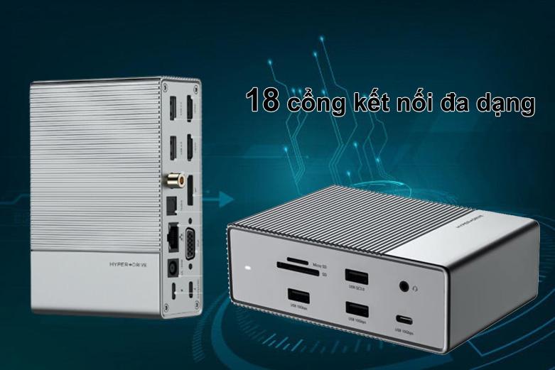 Hub USB-C Gen 2 18 in 1 Hyper Drive HD-G218 | Đa dạng cổng kết nối