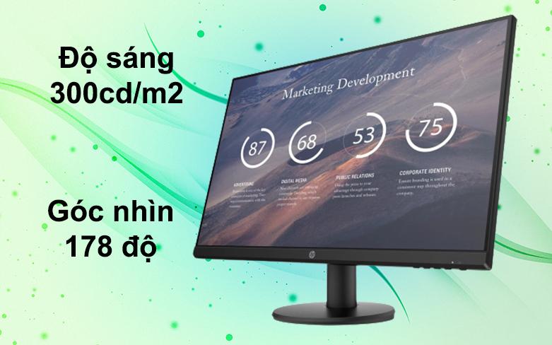 "Màn hình LCD HP 27"" P27v G4 9TT20AA | Độ sáng 300cd/m2"