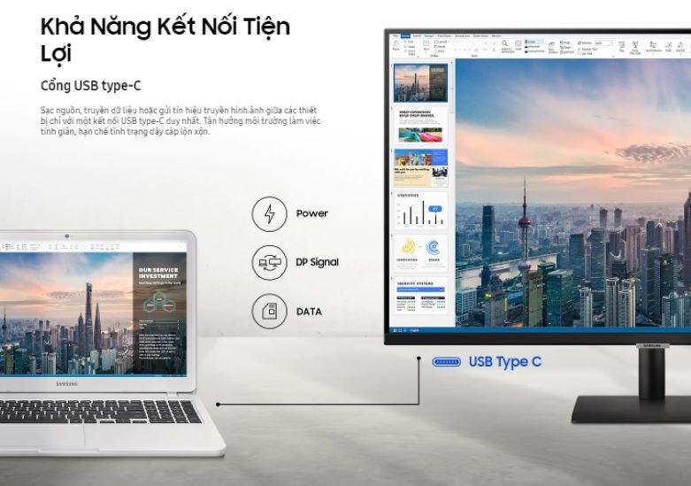 Màn hình LCD SAMSUNG LS32AM700   Khả năng kết nối tiện lợi
