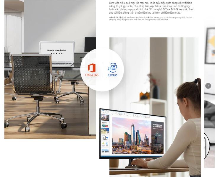 Màn hình LCD SAMSUNG LS32AM700   Thực hiện Microsoft Office
