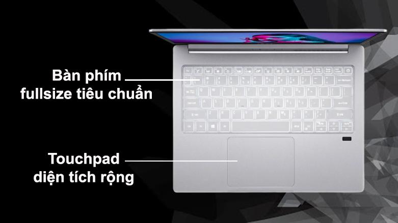 Laptop Acer Swift 3 SF313-53-503A NX.A4JSV.002   Bàn phím Full Size tiêu chuẩn