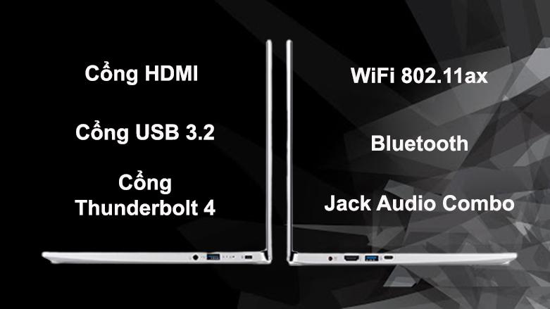 Laptop Acer Swift 3 SF313-53-503A NX.A4JSV.002   Đa dạng cổng kết nối