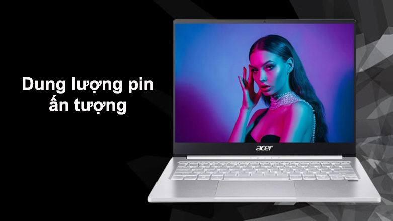 Laptop Acer Swift 3 SF313-53-503A NX.A4JSV.002   Dung lượng pin ấn tượng