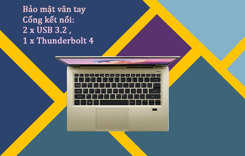 Laptop Acer Swift 3 SF314-510G-57MR   Bảo mật vân tay