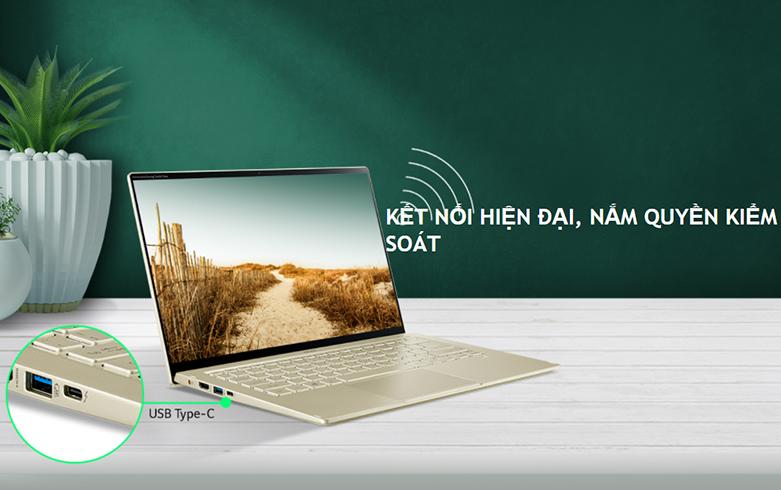 Laptop Acer Swift 5 SF514-55T-51NZ (NX.HX9SV.002) (i5-1135G7) (Vàng) | Đa dạng cổng kết nối