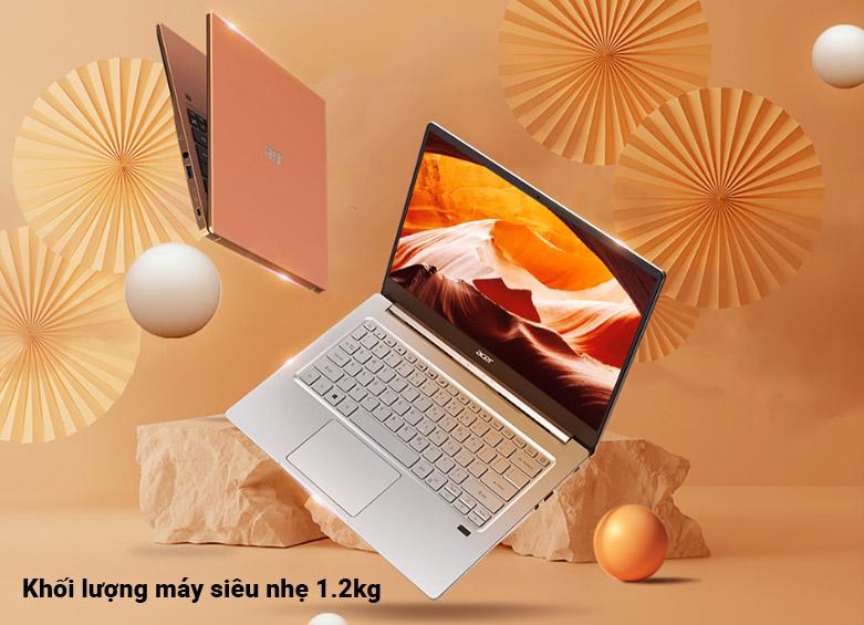Laptop Acer Swift 3 SF314-59-568P (NX.A0MSV.002) | Khối lượng máy siêu nhẹ