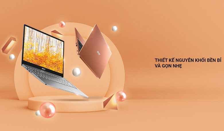 Laptop Acer Swift 3 SF314-59-568P (NX.A0MSV.002) | Thiết kế nguyên khối bền bỉ