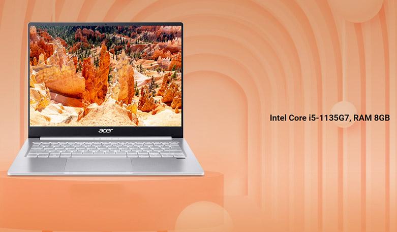 Laptop Acer Swift 3 SF314-59-568P (NX.A0MSV.002) | Cấu hình mạnh mẽ