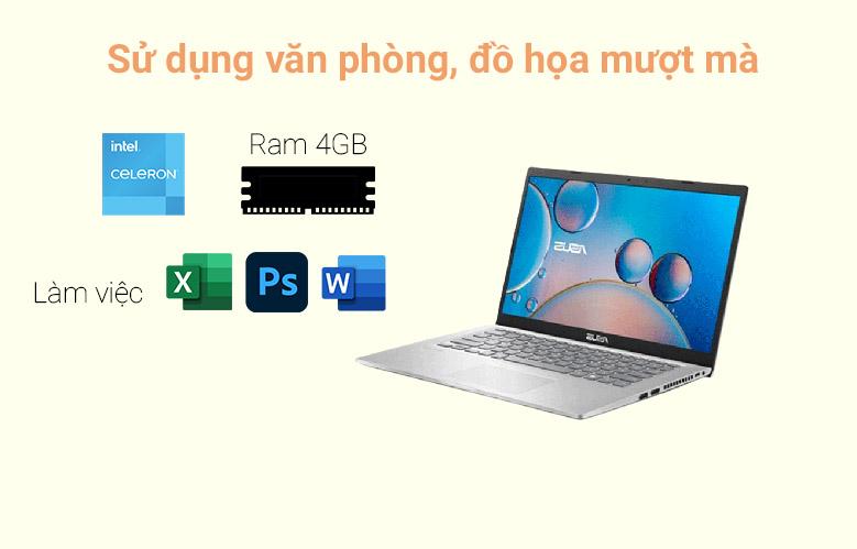 Laptop Asus Vivobook X415MA-BV087T (N4020) (Bạc)   Sử dụng văn phòng, đồ họa mượt mà