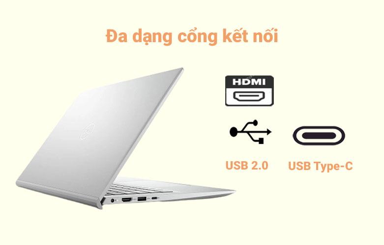 Laptop Dell Inspiron 14 5402 (5402-GVCNH1) (i5-1135G7) (Bạc) | Đa dạng cổng kết nối